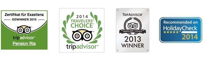 Pension Ria Tripadvisor & Holidaycheck Awards