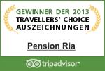 Pension Ria Travellers Choice Award 2013
